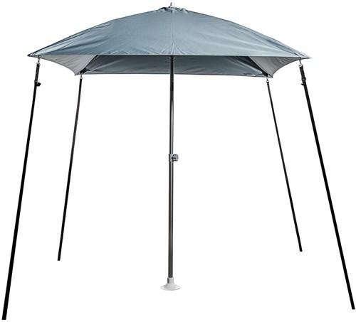 Bimini parasol grijs 200x200 cm. met 45gr. knik