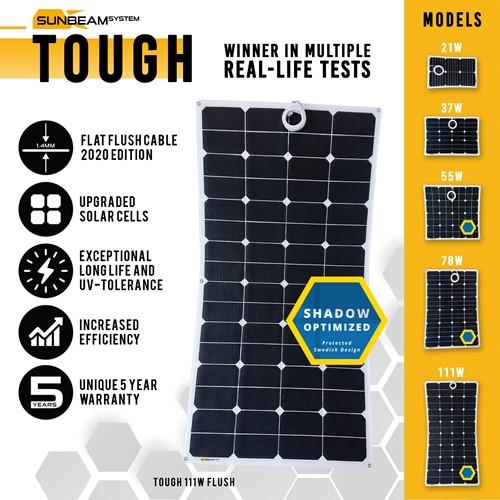 Sunbeam Tough 111W Flush Flexibel zonnepaneel