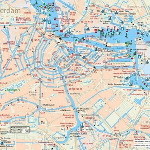 Kaartkussens Fleece deken Amsterdam