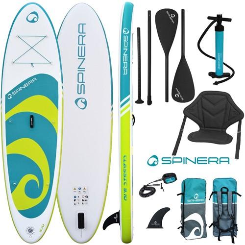 Spinera Classic Sup 9'10 - Complete set met kayakseat - 300x76x15cm